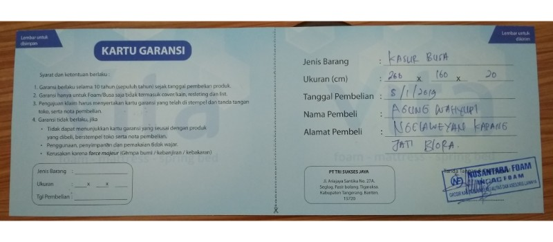 Agen Kasur Busa Inoac Mojokerto, Murah-Free Ongkir WA 081290223607