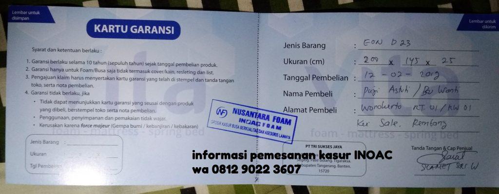Agen Kasur Busa Inoac Banjarnegara, Murah-gratis ongkir 081290223607